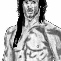 My Trying Hard Sketch of Rambo