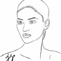 Miss Universe Pia Wurtzbach, a Sketch