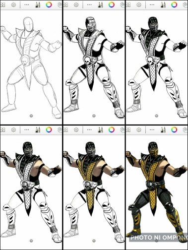 How To Draw Scorpion Of Mortal Kombat Photo Ni Ompong
